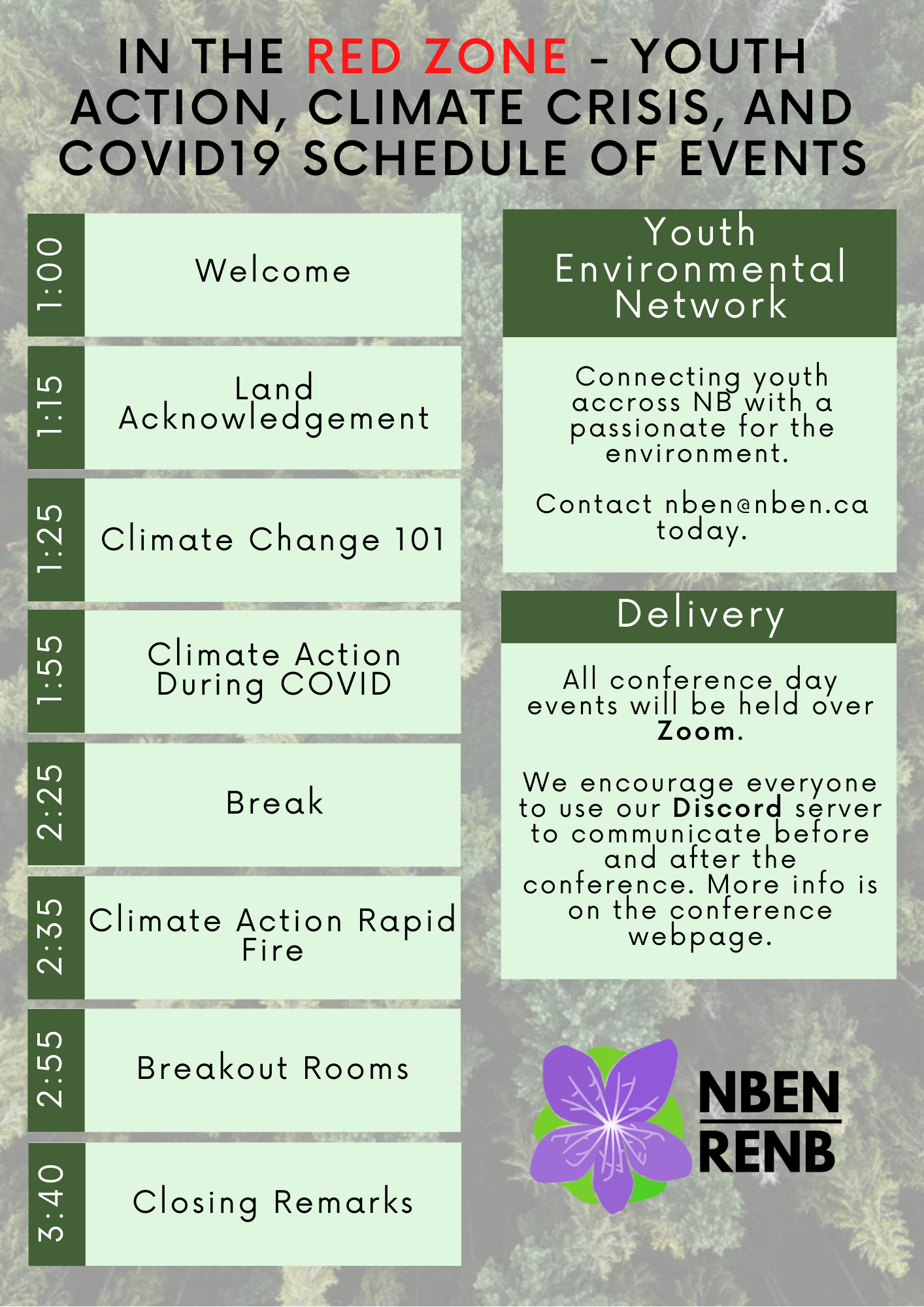 Youth Climate Conference Schedule page 001